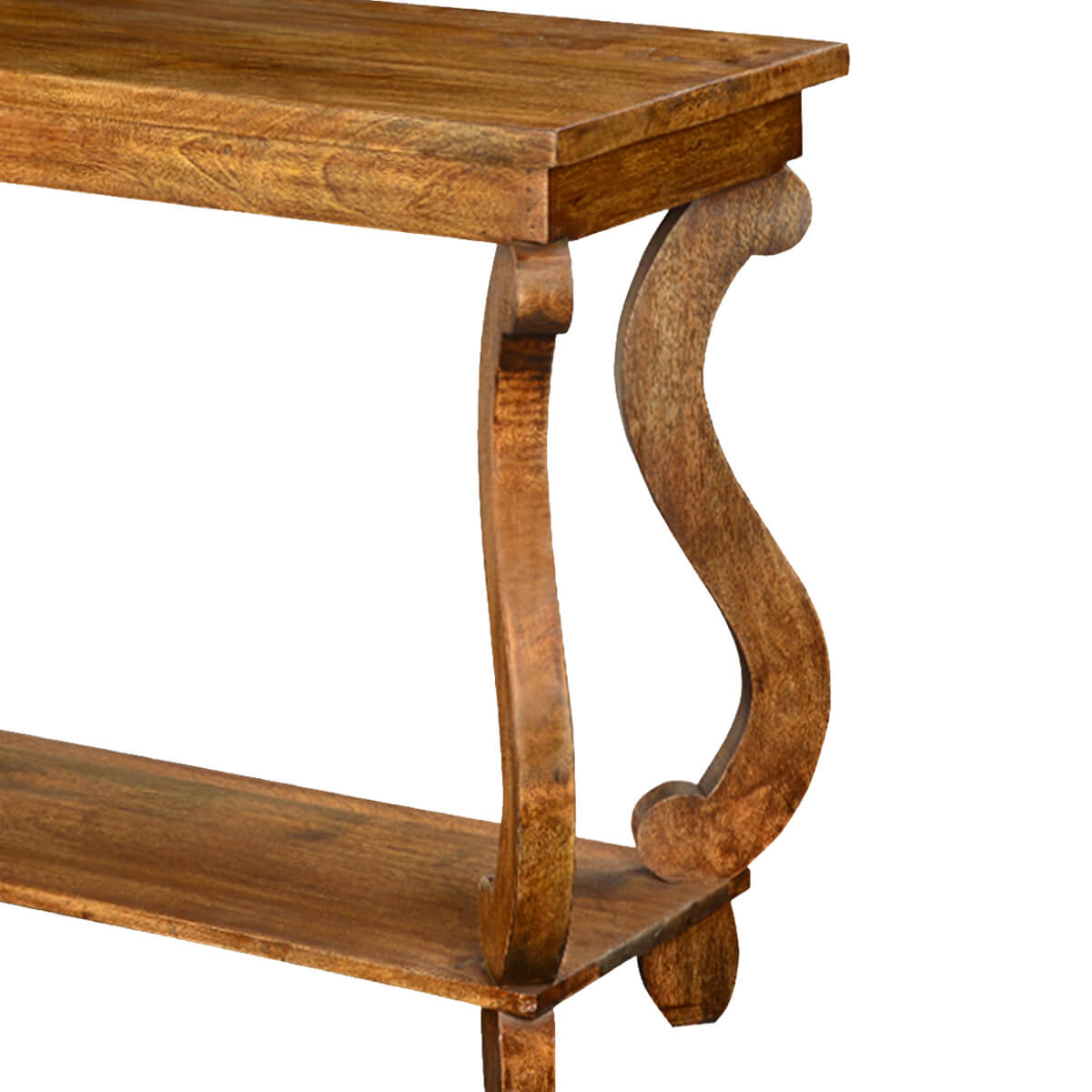 S scroll solid mango wood quot hall console table