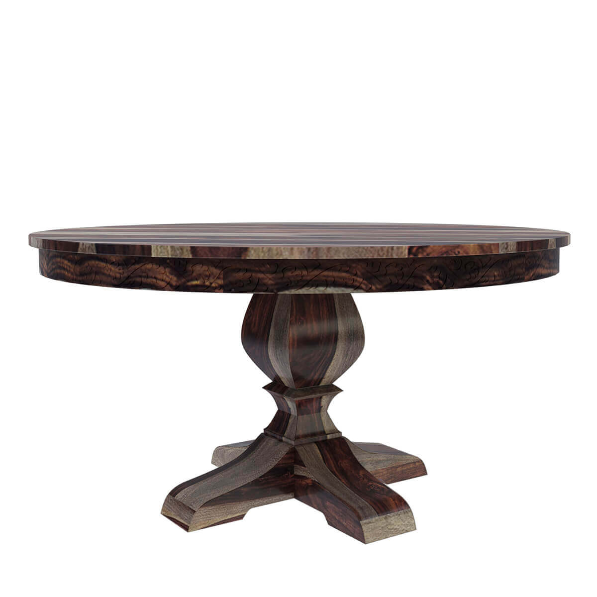 Brown Dallas Solid Wood 60quot Round Pedestal Dining Table : 71821 from www.sierralivingconcepts.com size 1200 x 1200 jpeg 535kB