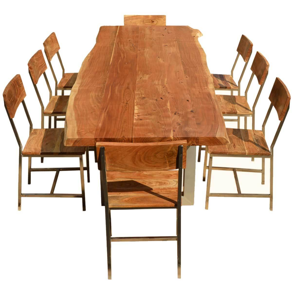 Acacia wood dining table and chairs roscrea dining table for Table queens acacia