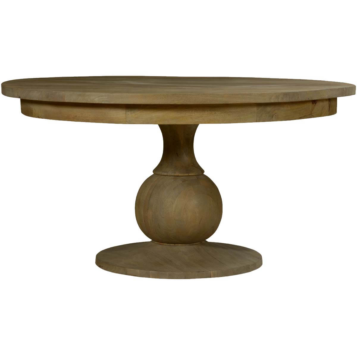 Smokey Tan Solid Mango Wood 60quot Round Pedestal Dining Table : 72134 from www.sierralivingconcepts.com size 1200 x 1200 jpeg 65kB