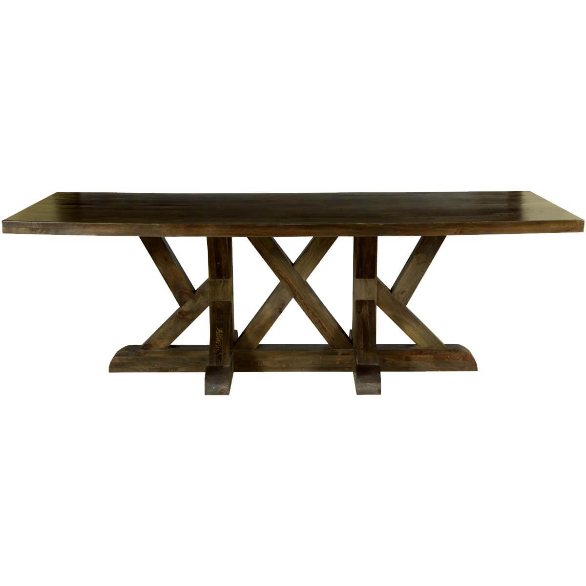 "Dining Unfinished Wood Trestle Bench International: Five X Trestle Solid Mango Wood 94"" Dining Table"