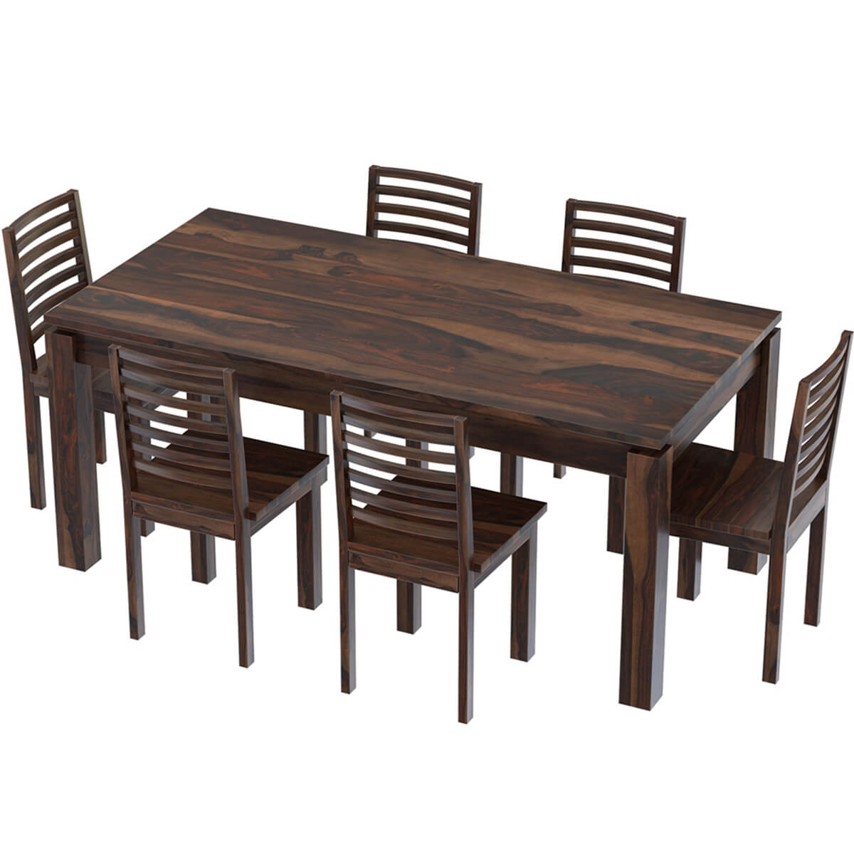 Classic comfort mango wood dining table upholstered for Mango wood dining table