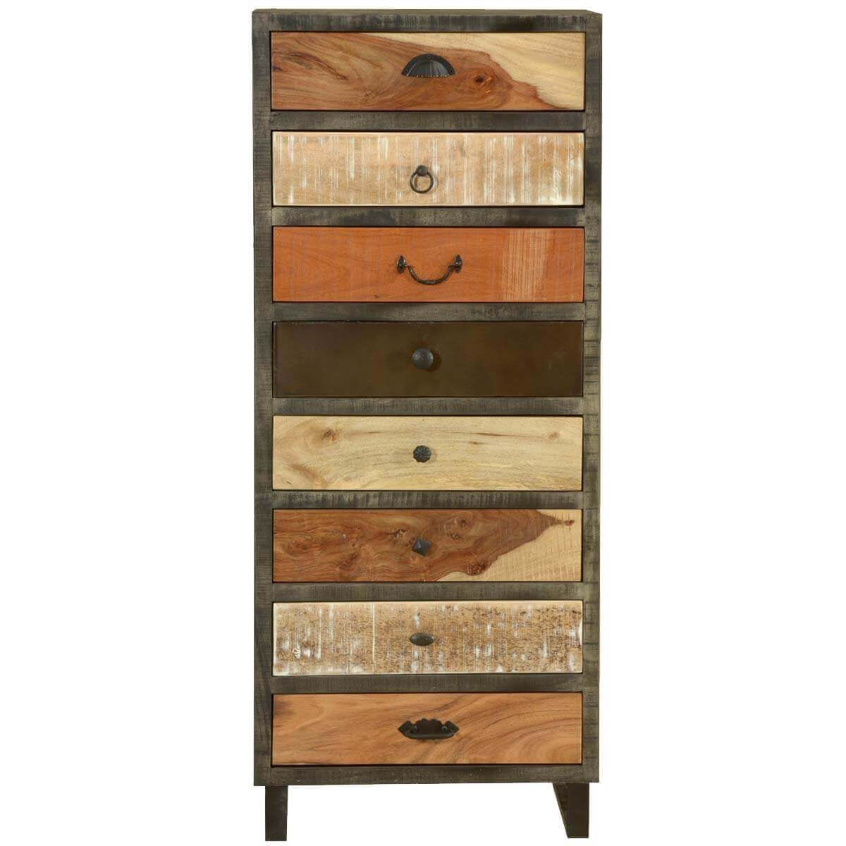 Marvelous photograph of  Wooden Patches Mango Wood & Iron 52 Chest of 8 Drawers Dresser with #B27F19 color and 1200x1200 pixels