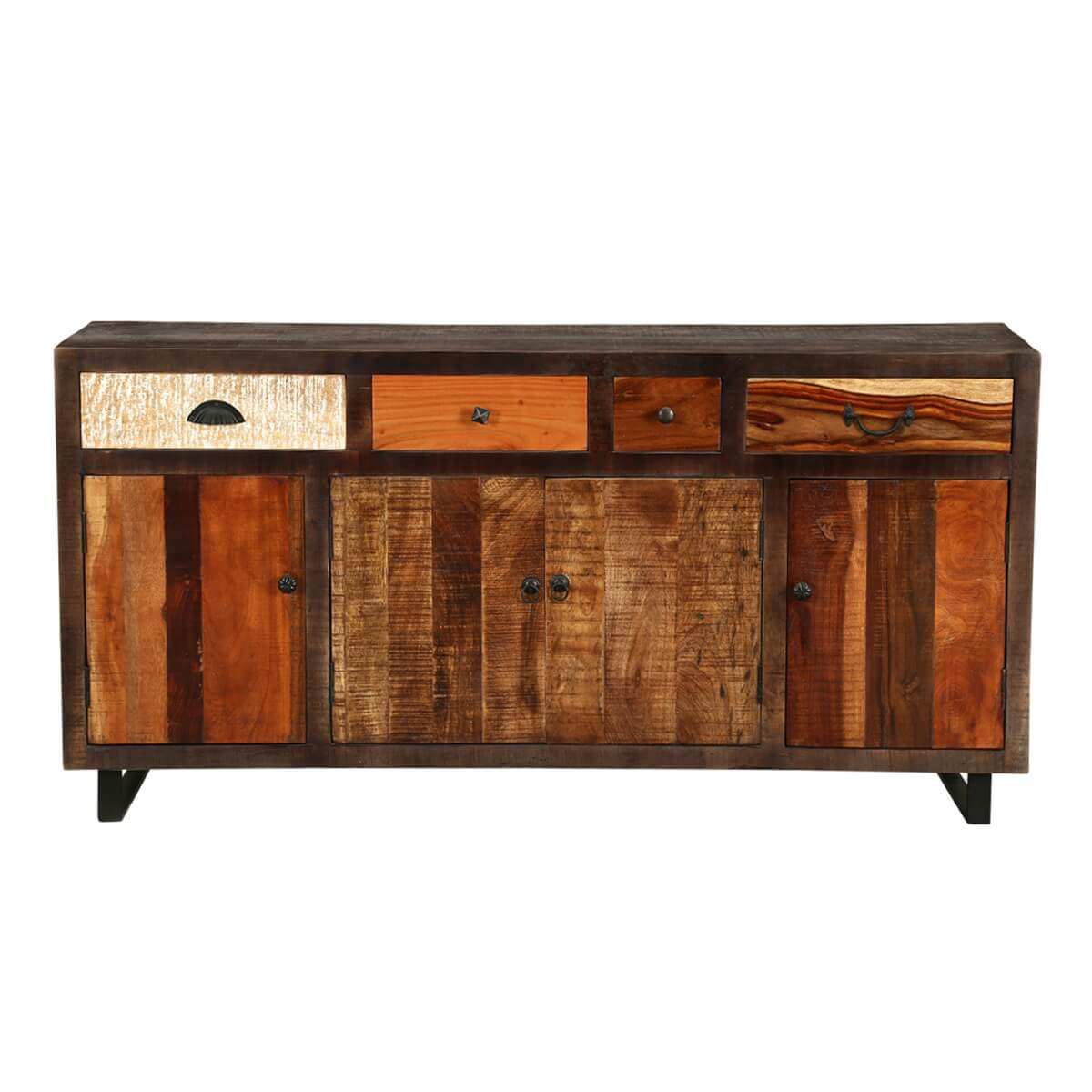 oakland mango wood industrial style sideboard. Black Bedroom Furniture Sets. Home Design Ideas