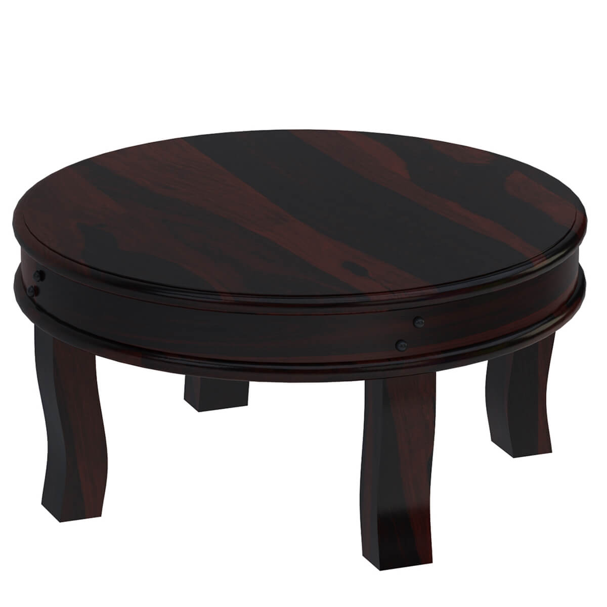 Full moon solid wood 36 round coffee table for Solid wood coffee table