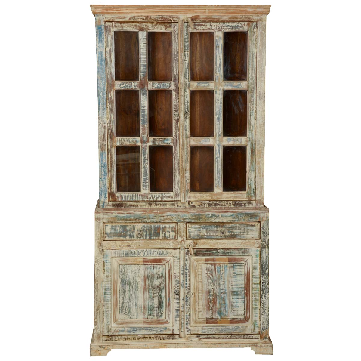 White Washed Reclaimed Wood Breakfront Hutch Buffet Cabinet : 72821 from www.sierralivingconcepts.com size 1200 x 1200 jpeg 152kB