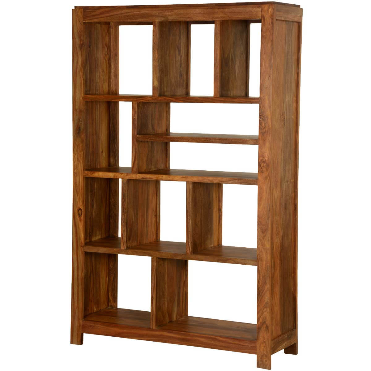 Simply modern solid wood section display rack cube bookcase
