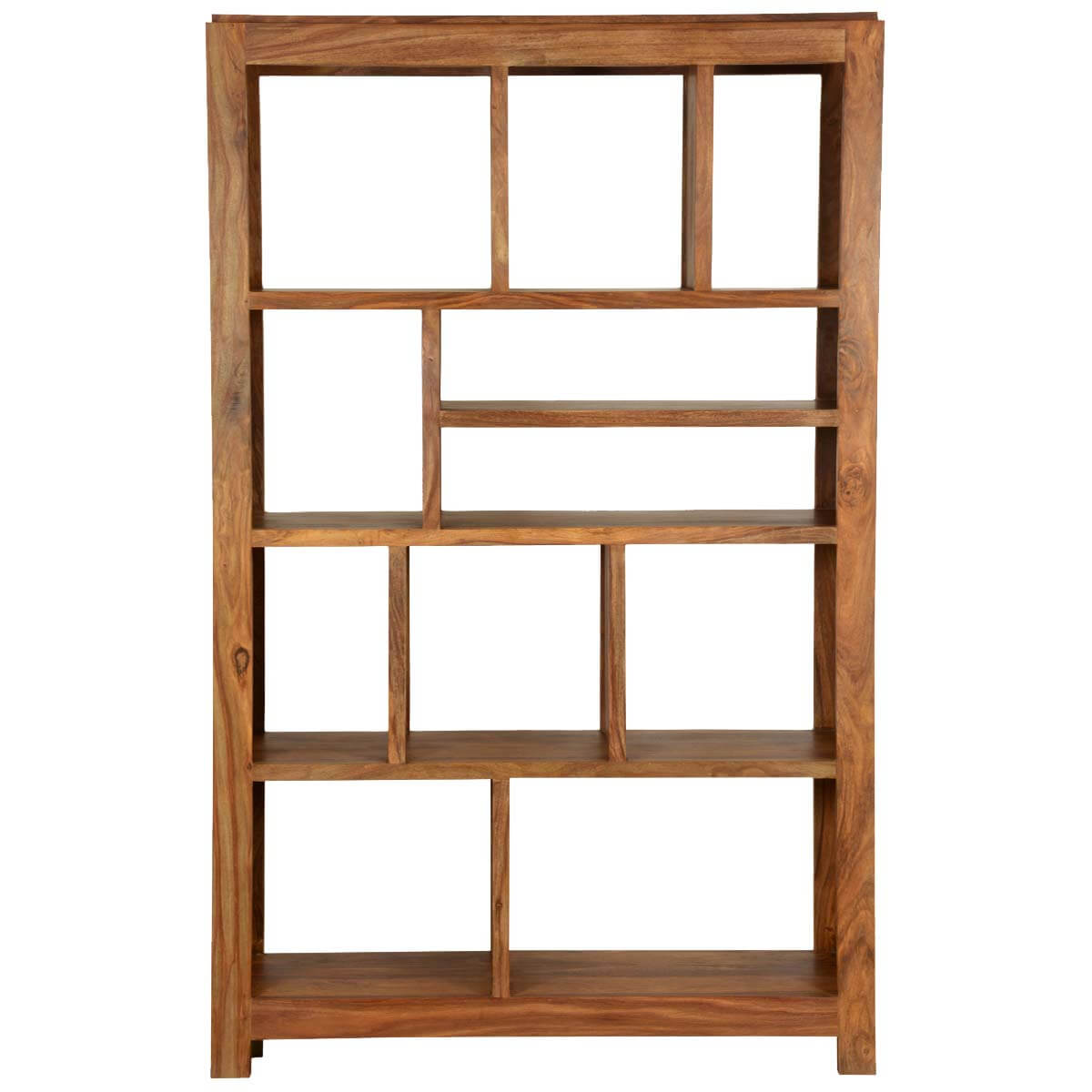 Real Wood Bookcases ~ Simply modern solid wood section display rack cube bookcase