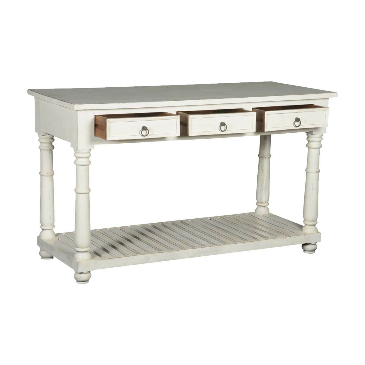 First snow solid wood quot drawer hall console table