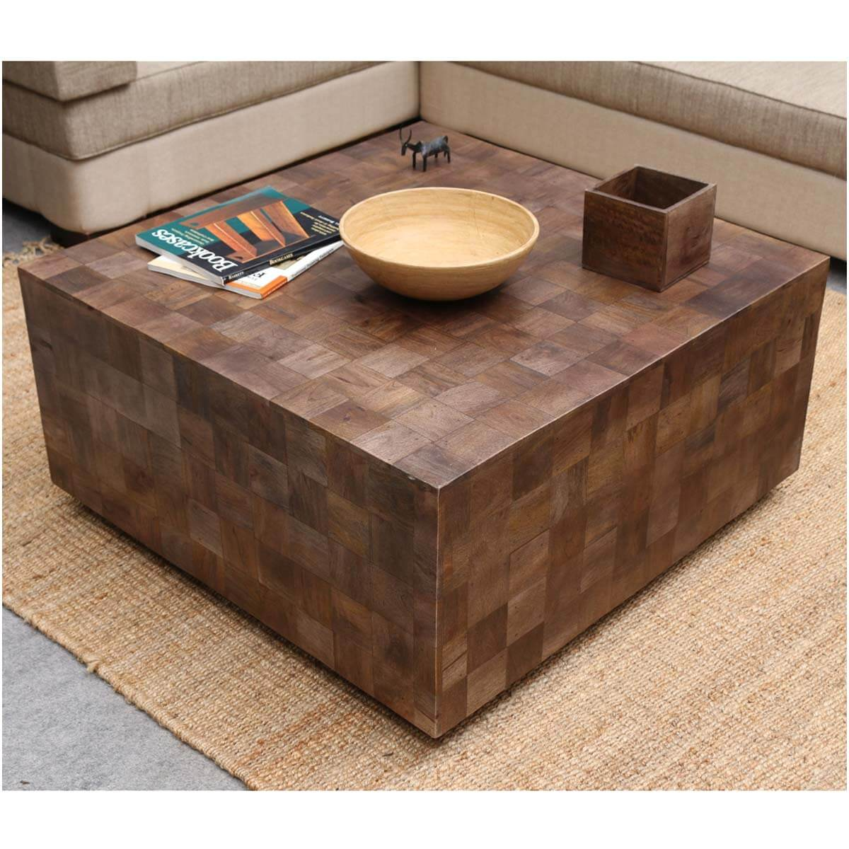modern rustic furniture solid wood 36 square coffee table. Black Bedroom Furniture Sets. Home Design Ideas