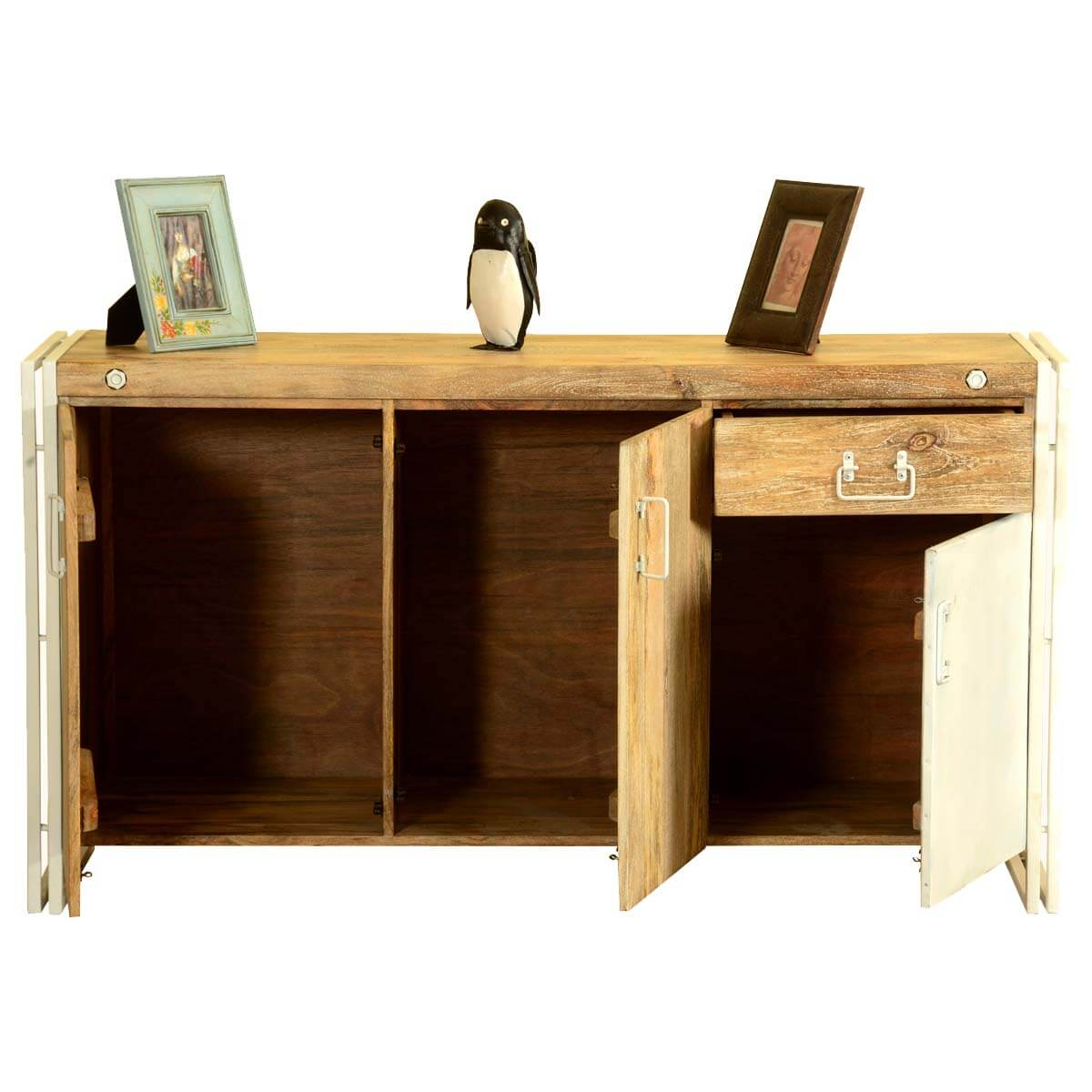 Wooden Studio Furniture ~ Simply industrial mango wood iron pc studio furniture suite