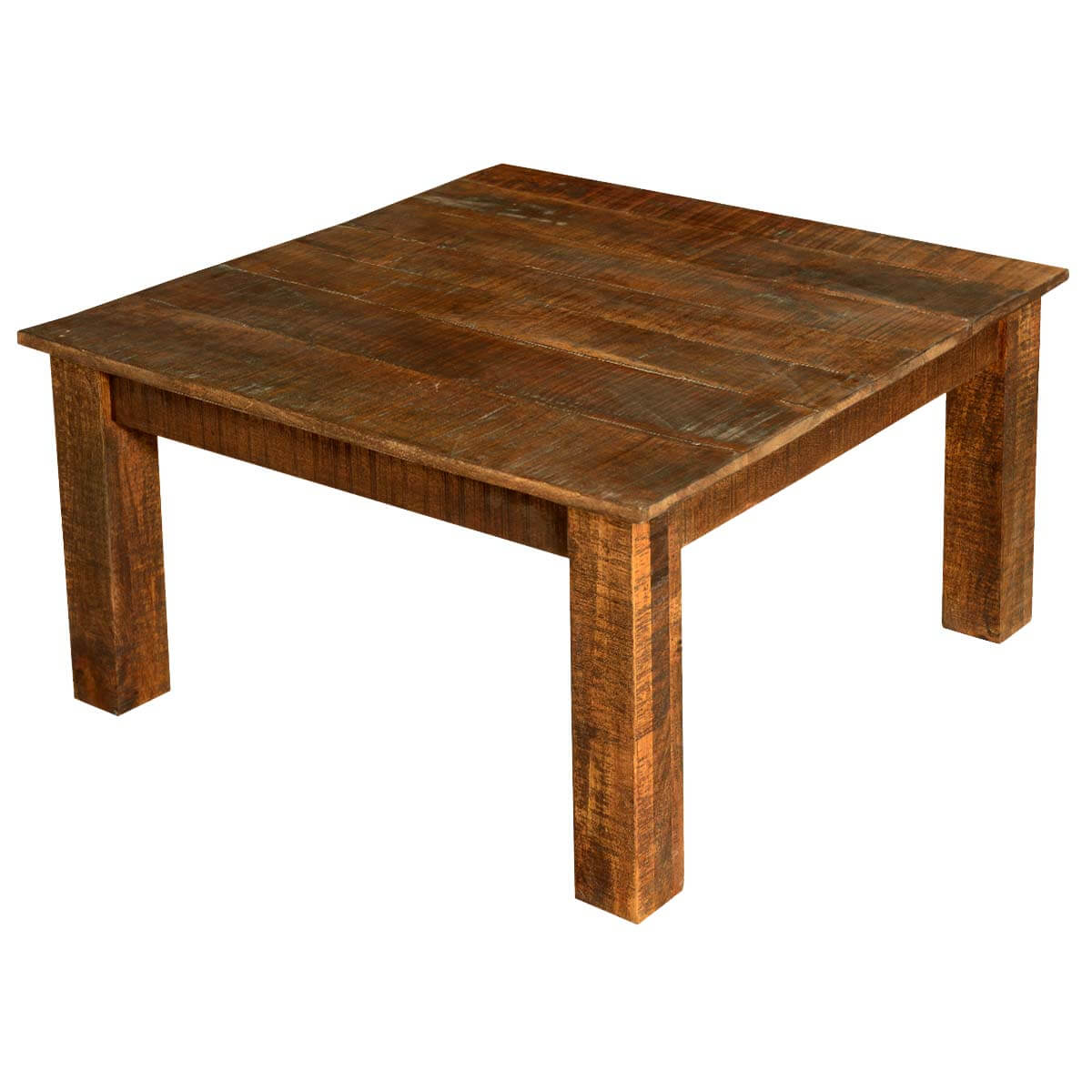 Modern Frontier Mango Wood 4 Essential Cabinets Coffee Table Set