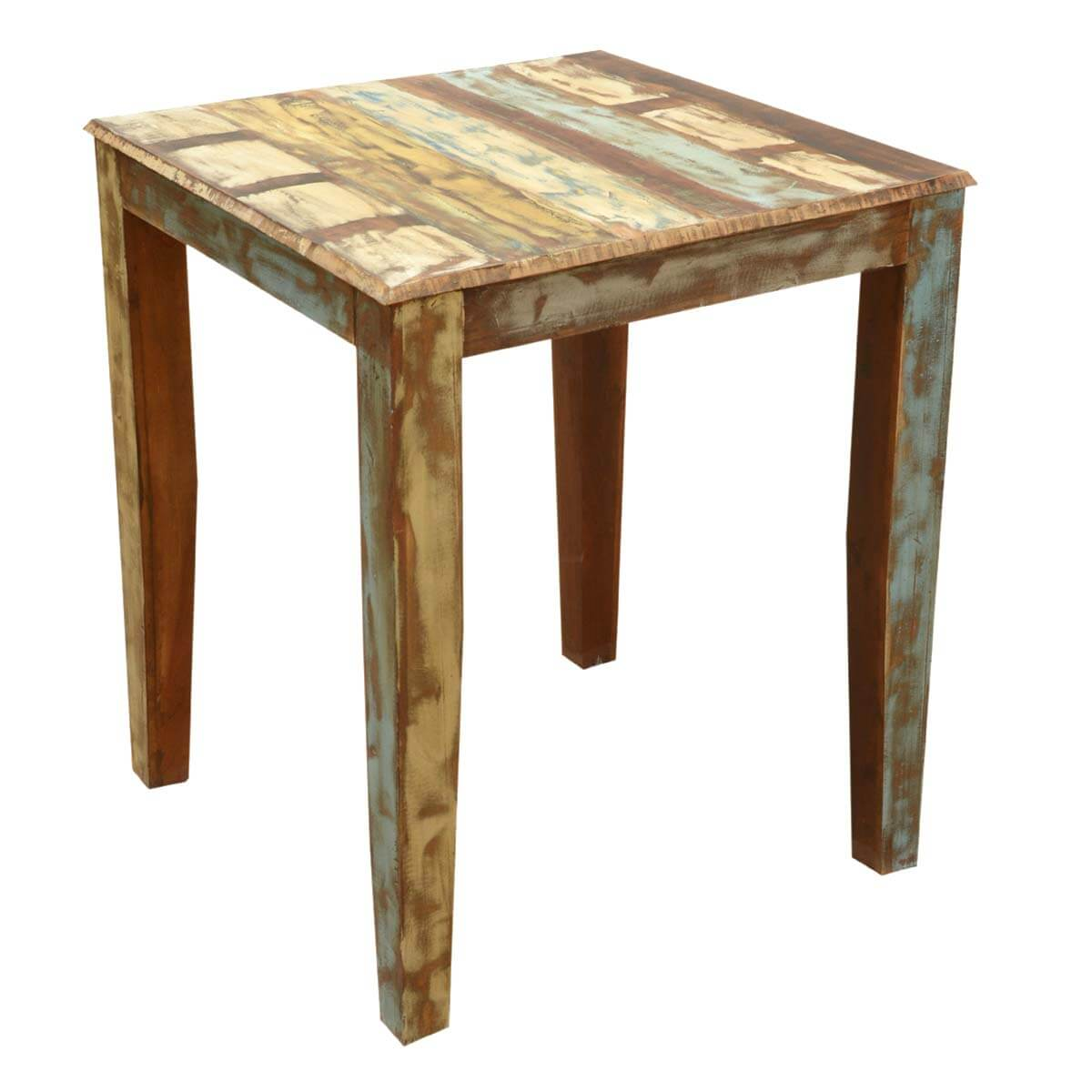 Wood Bistro Table And Chairs ~ Appalachian rustic reclaimed wood high bar table chair set