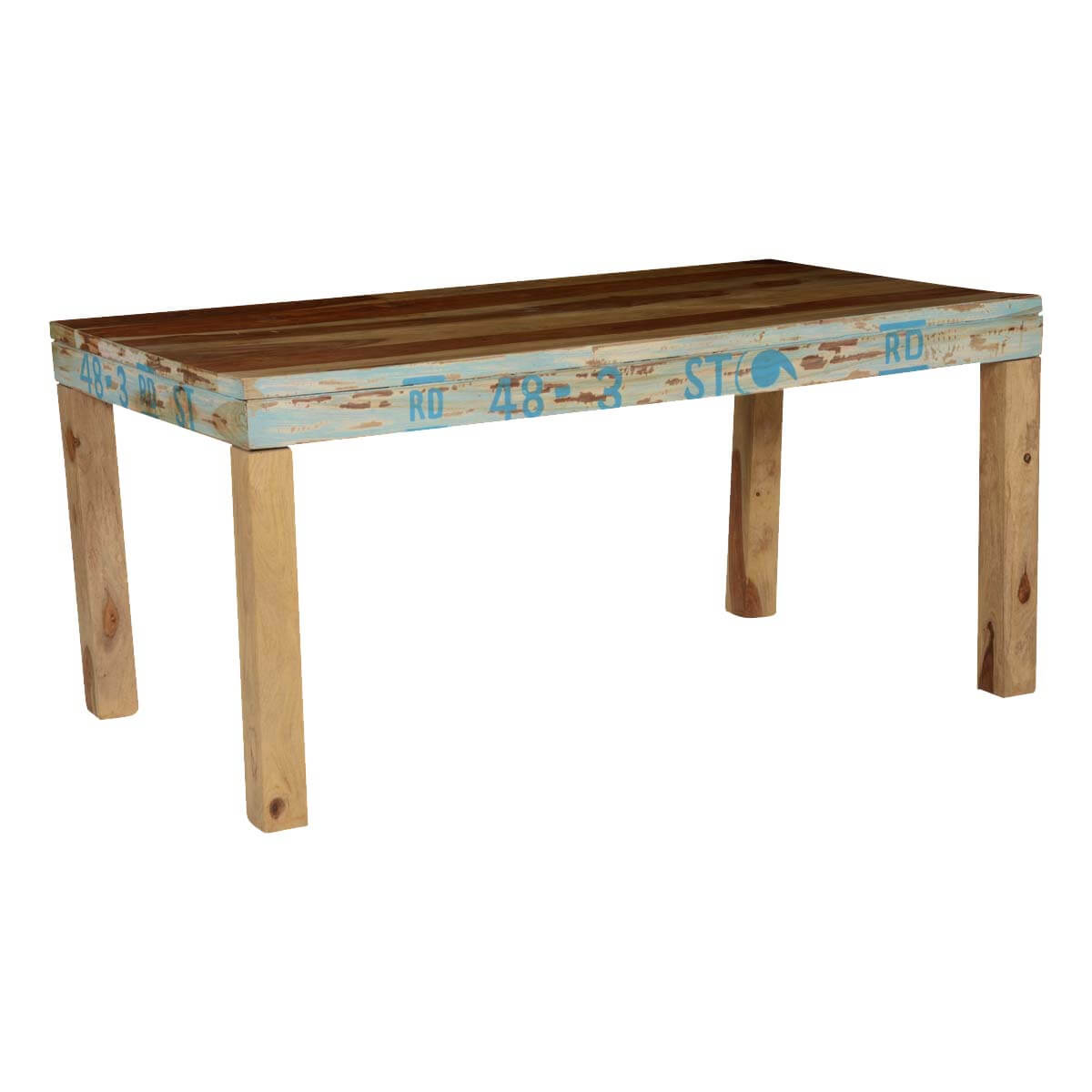 Natural Rustic Solid Wood Rectangular Dining Table : 74352 from www.sierralivingconcepts.com size 1200 x 1200 jpeg 73kB