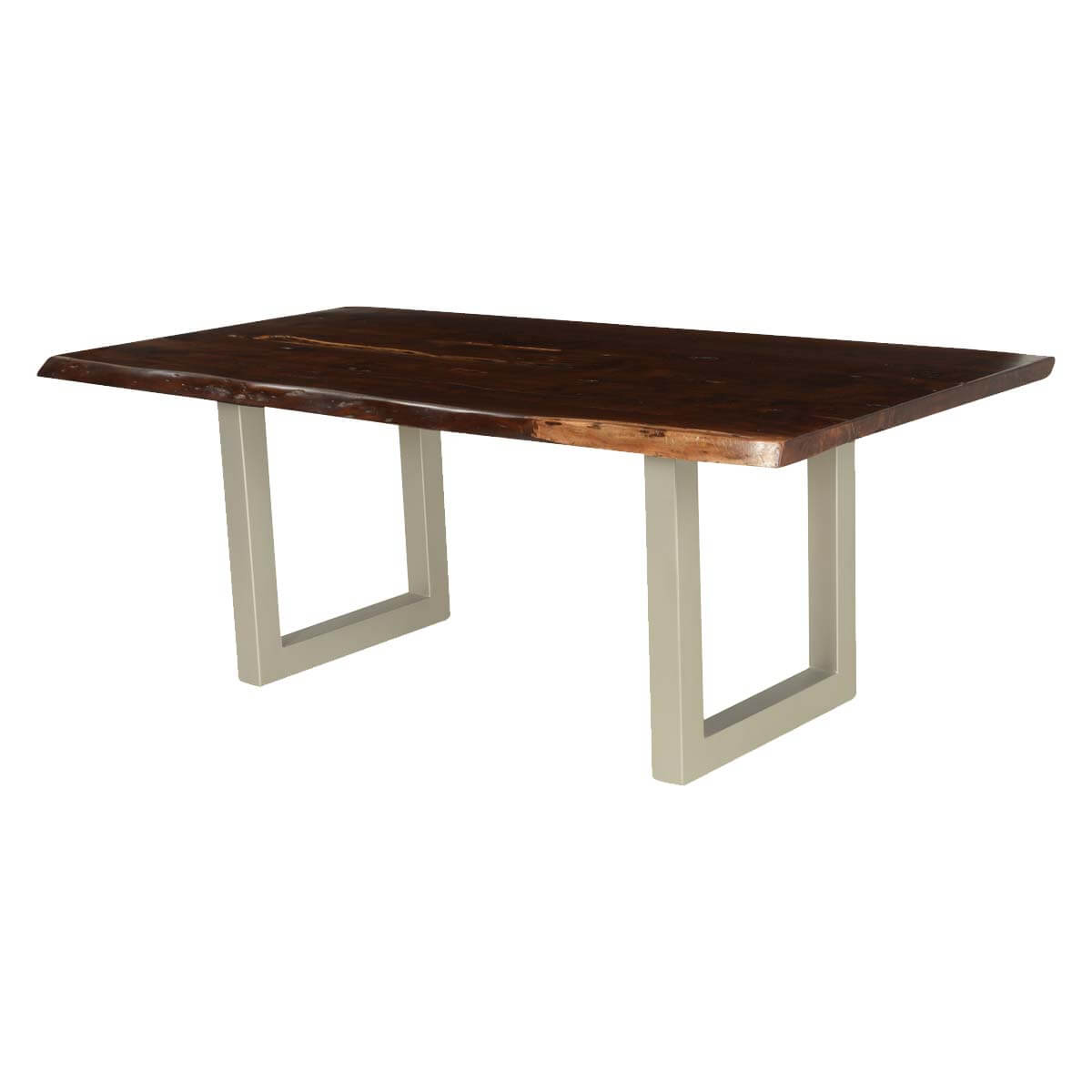 Wood iron dining table manhattan wood iron dining table for Table queens acacia