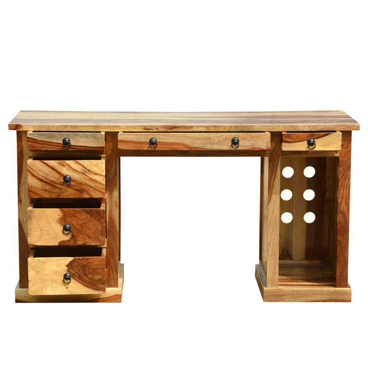 Dallas Ranch Contemporary Solid Wood Workstation Desk