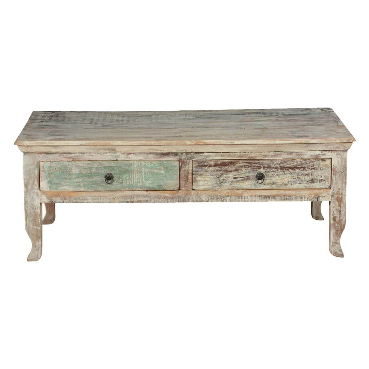 Superb img of  Coastal Breeze Winter Storm Reclaimed Wood Coffee Table w 2 Drawers with #B48317 color and 1200x1200 pixels