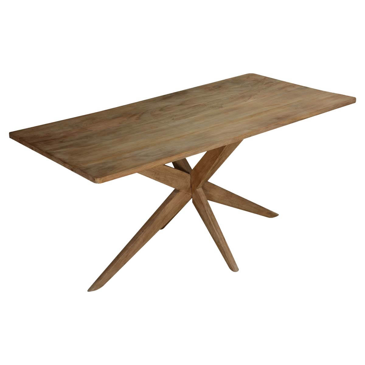 Rustic Starburst Mango Wood 63 Dining Table