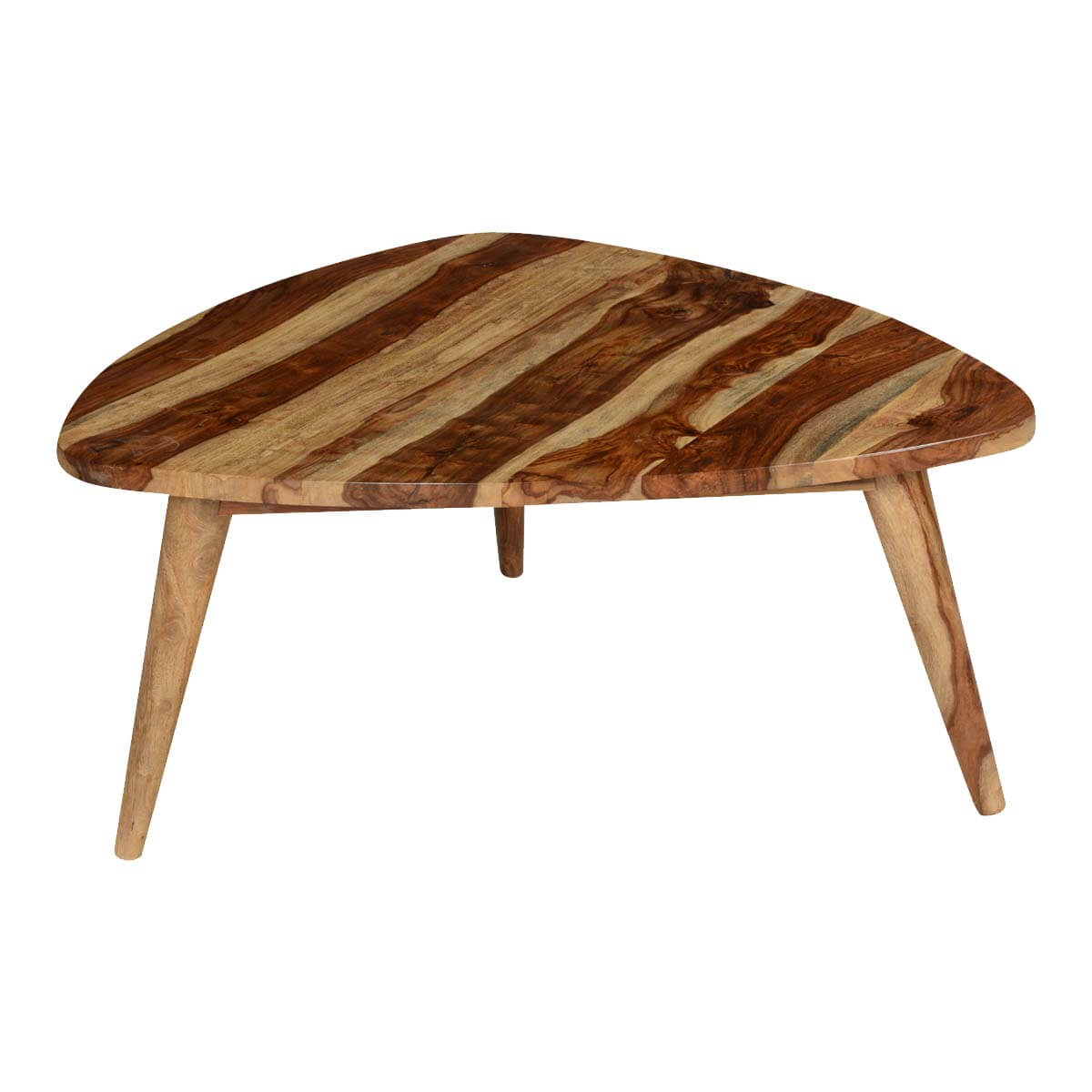 Triangular solid wood coffee table for Solid wood coffee table