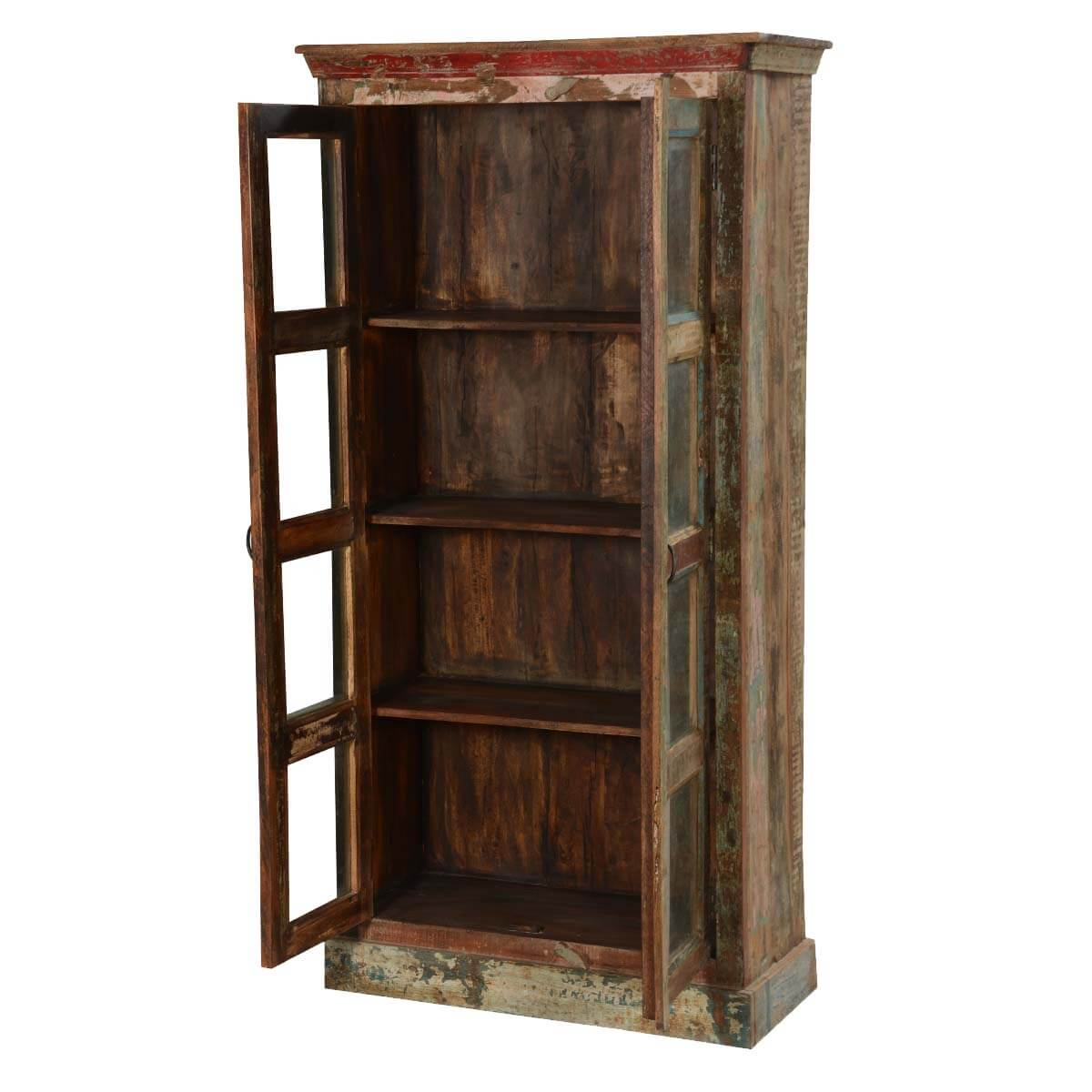 Rustic Reclaimed Wood New Orleans 71 High Display Cabinet