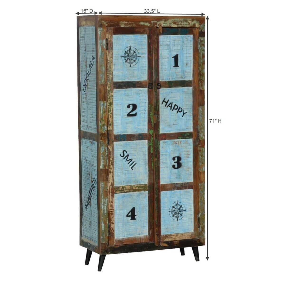 happy reclaimed wood rustic storage armoire cabinet. Black Bedroom Furniture Sets. Home Design Ideas