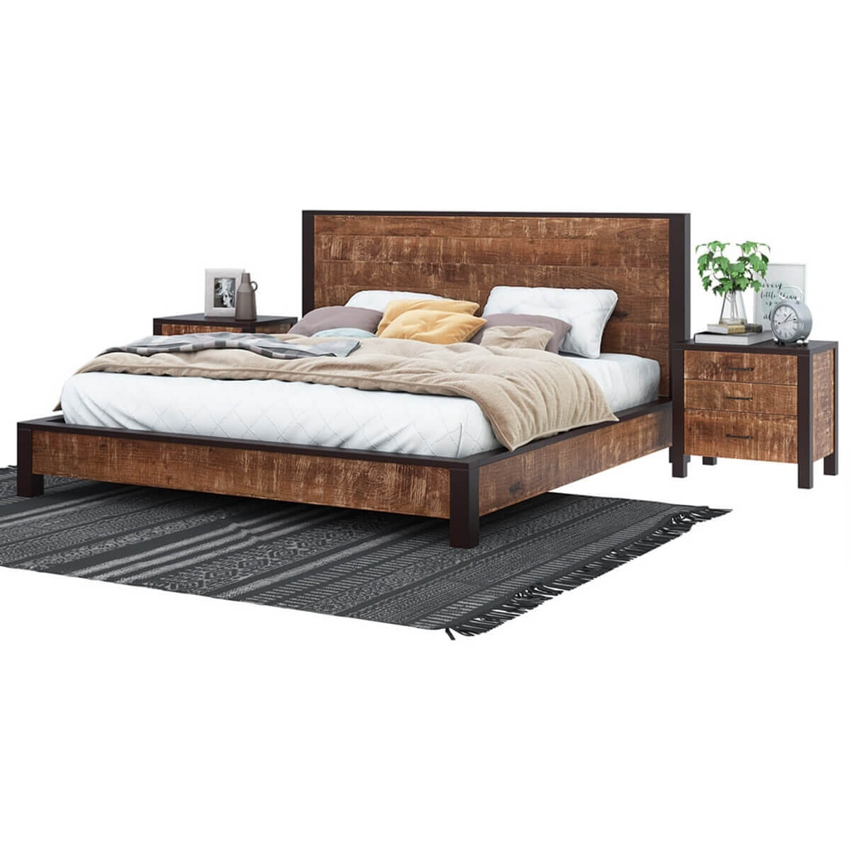 Headboard And Footboard Frame Fb1512 Upholstered Bed