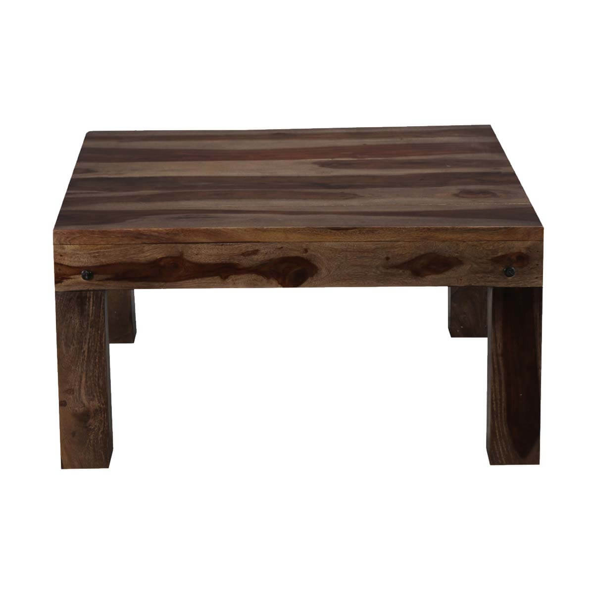 Pasadena square solid wood coffee table for Solid wood coffee table