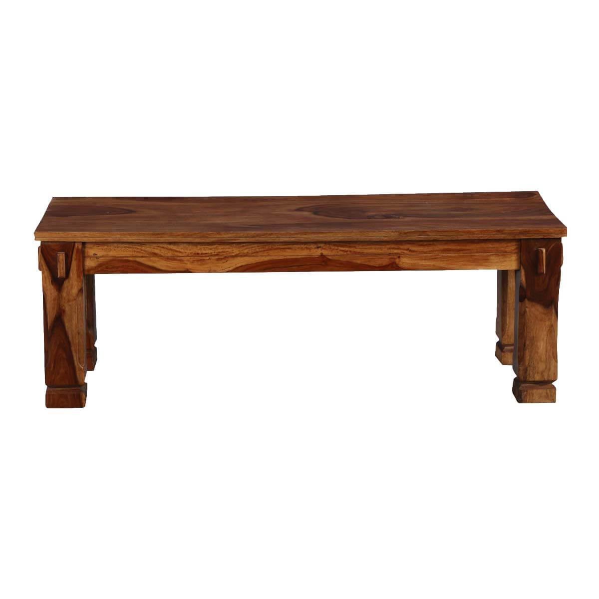 Long Dining Bench: Denver Long Solid Wood Dining Bench