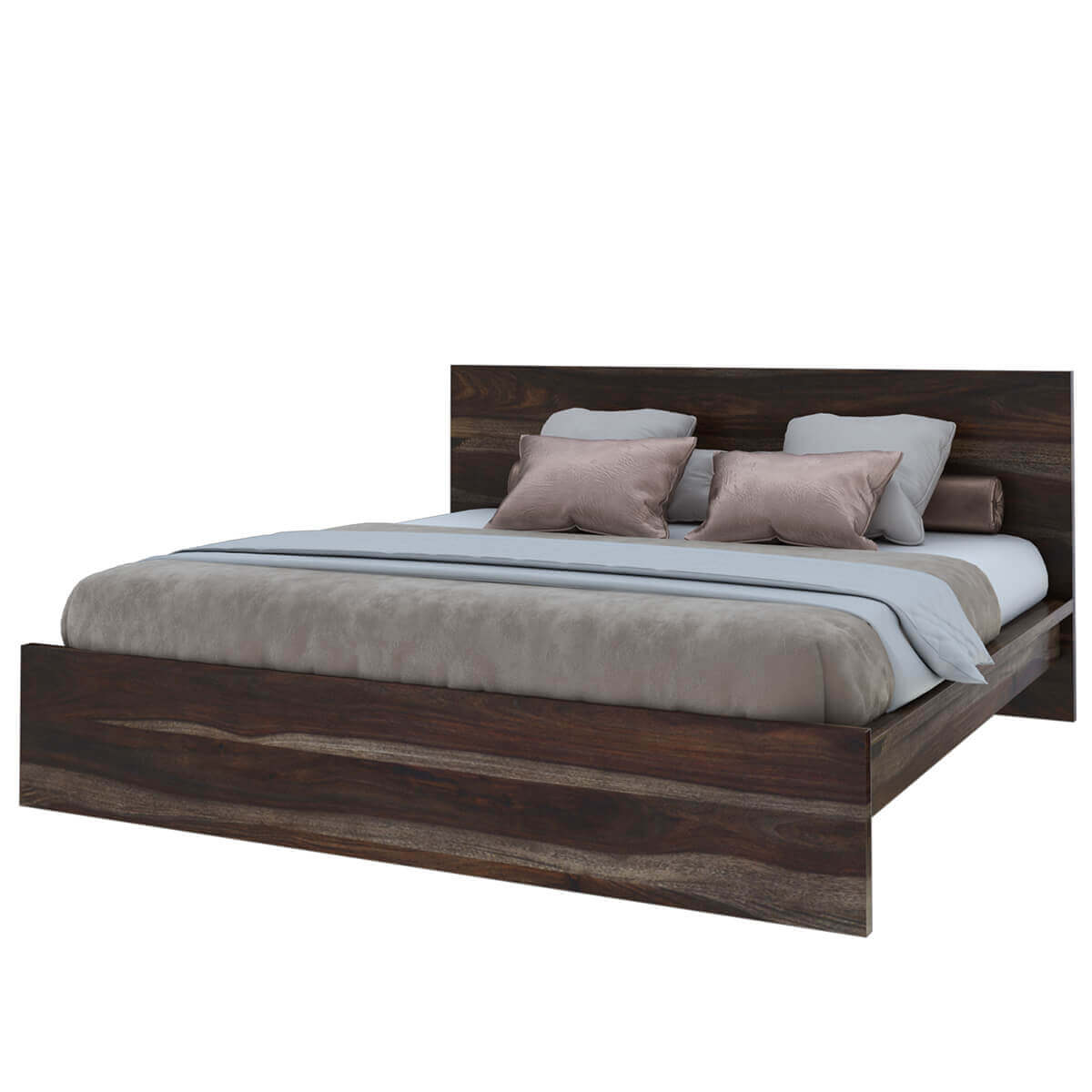 modern simplicity solid wood platform bed frame. Black Bedroom Furniture Sets. Home Design Ideas