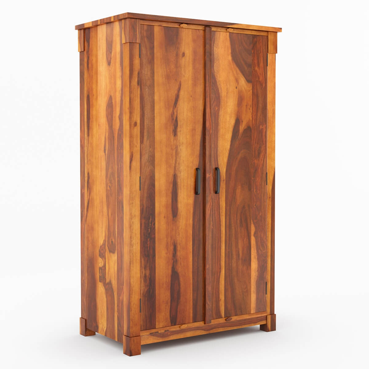 modern farmhouse two door solid wood armoire storage cabinet. Black Bedroom Furniture Sets. Home Design Ideas