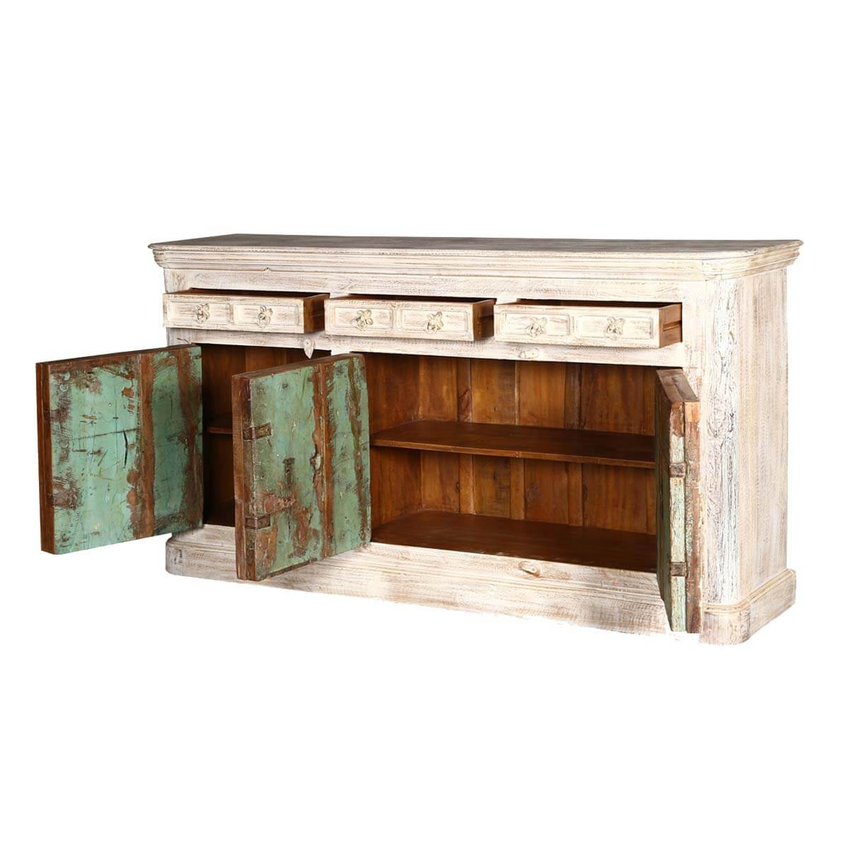 Palazzo Rustic Distressed Reclaimed Wood 3 Drawer Large