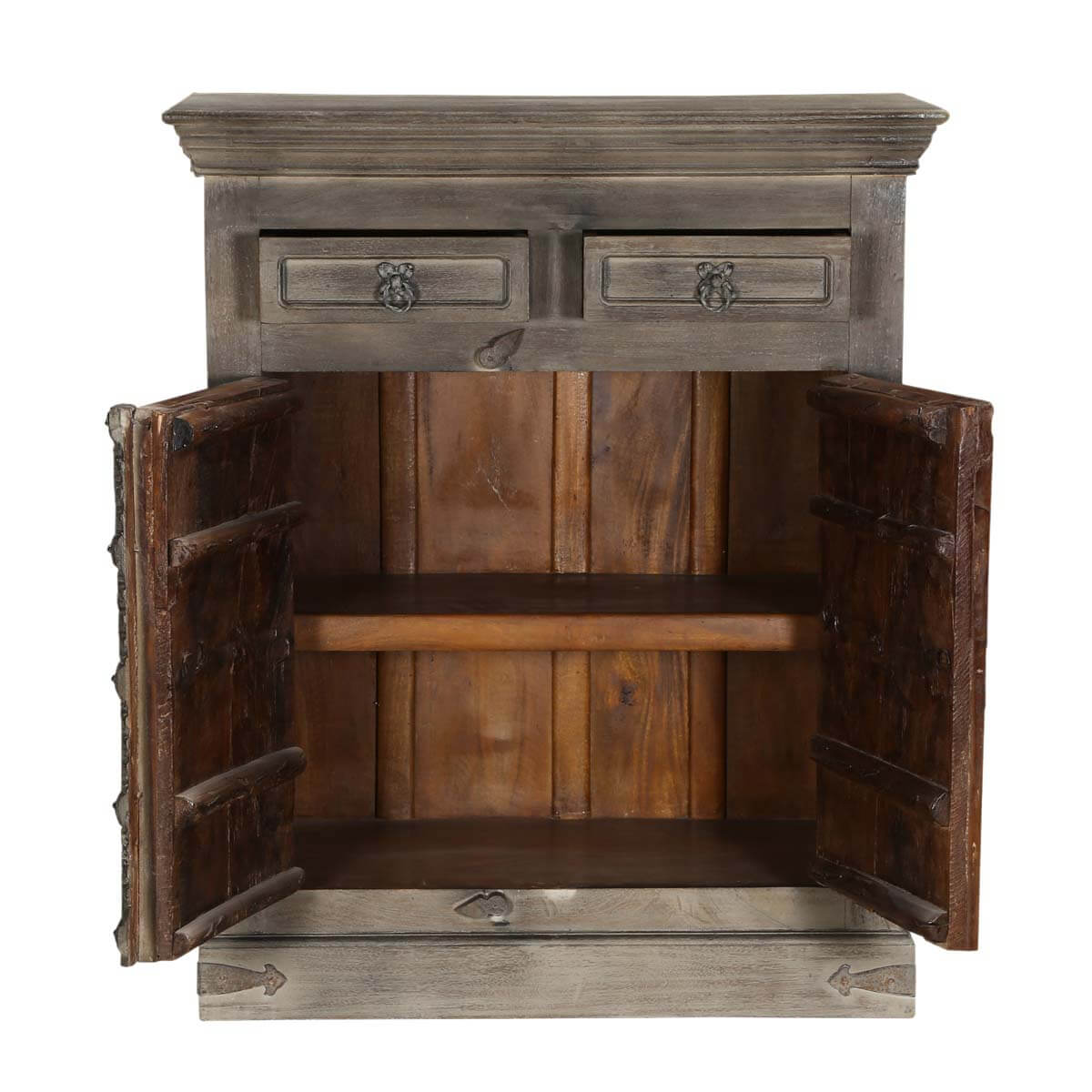 chartres 35 5 dark grey solid wood rustic dining sideboard buffet