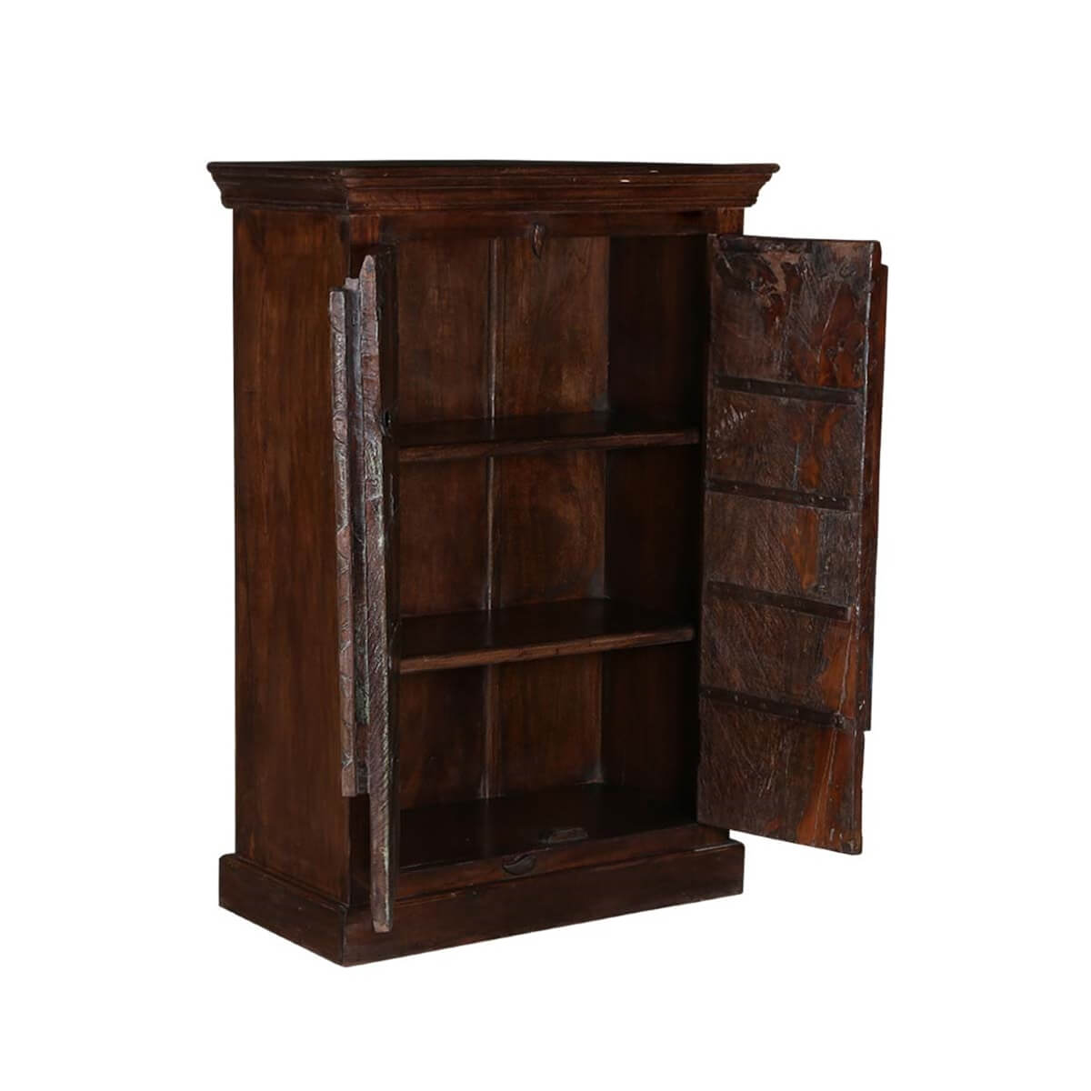 willamette arched door rustic reclaimed wood accent cabinet dining room storage cabinets furniture Dining Room Hutch Cabinet