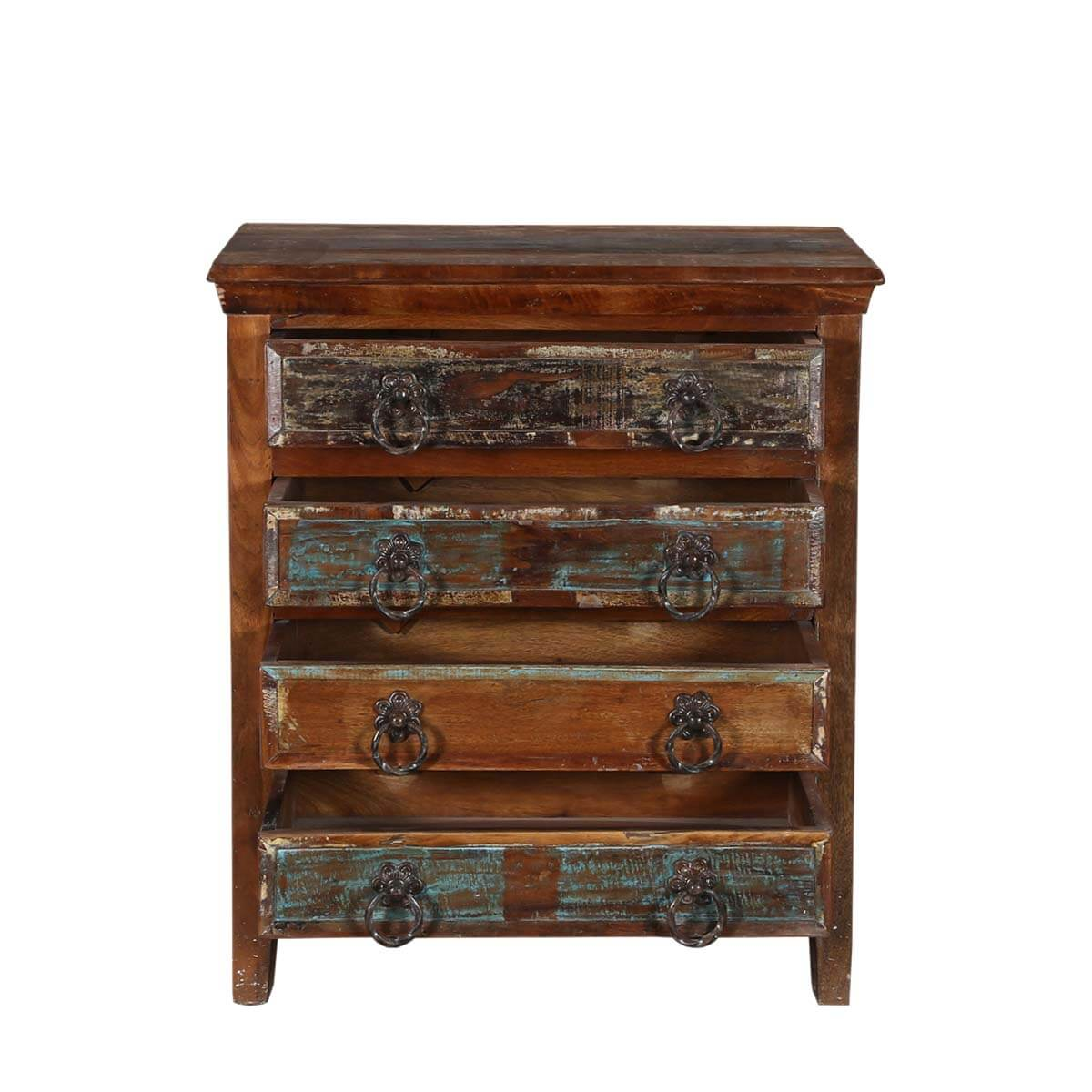 Turquoise trail 30 rustic 4 drawer medium brown for Rustic nightstands