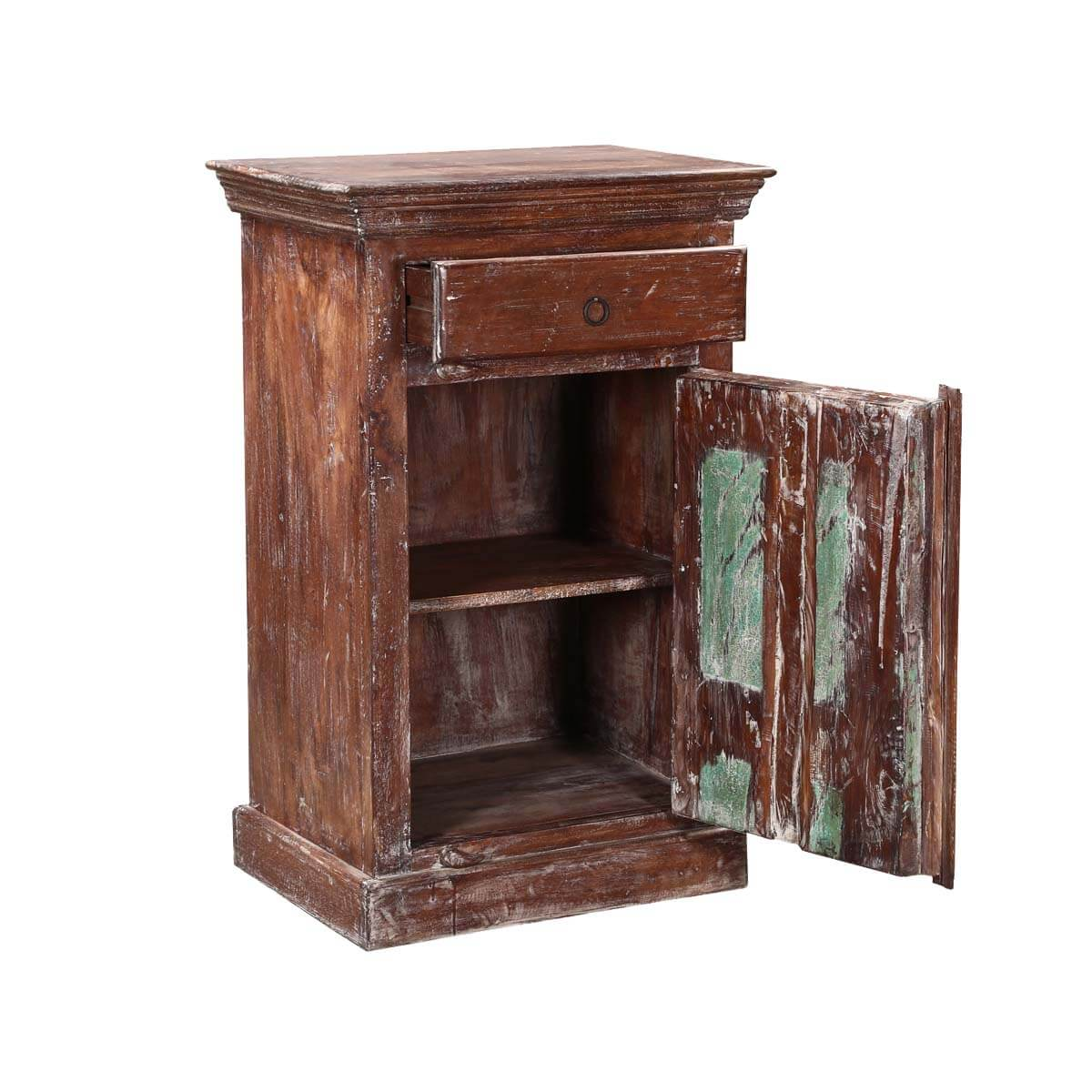 Turquoise trail 24 rustic nightstand with 1 door and 1 drawer for A p furniture trail