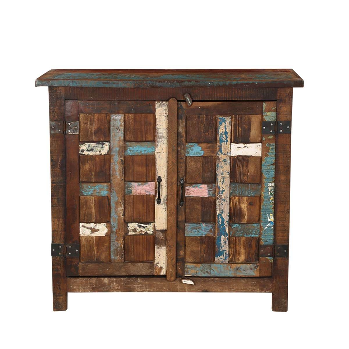 Distress Cabinets: Bryant Distressed Rustic Reclaimed Wood 2 Door Storage Cabinet