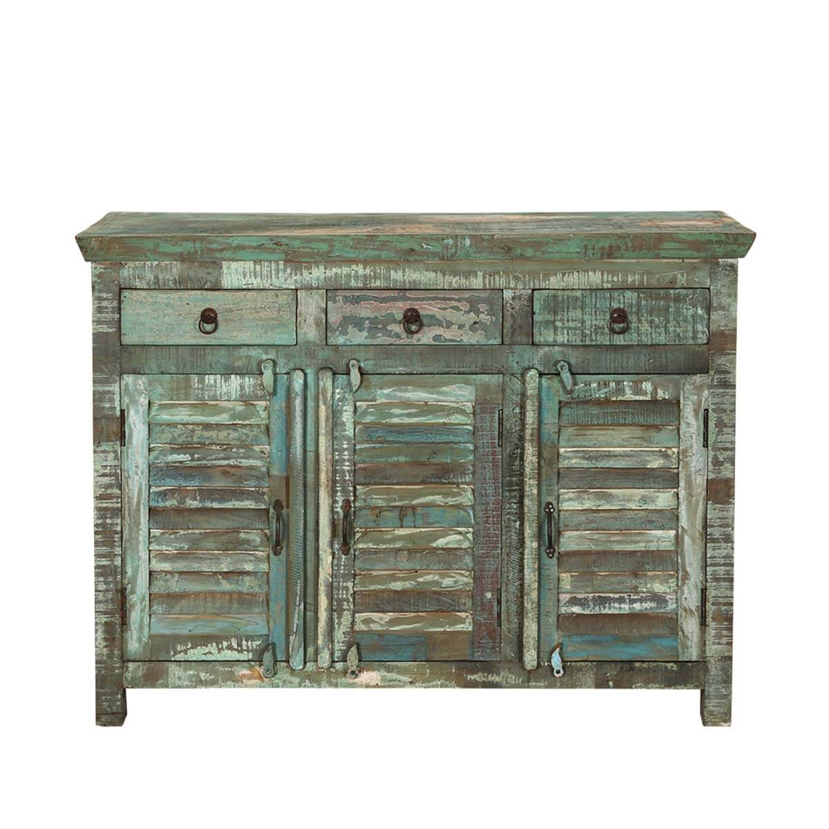 Turquoise trail light green slat design 3 drawer sideboard for A p furniture trail