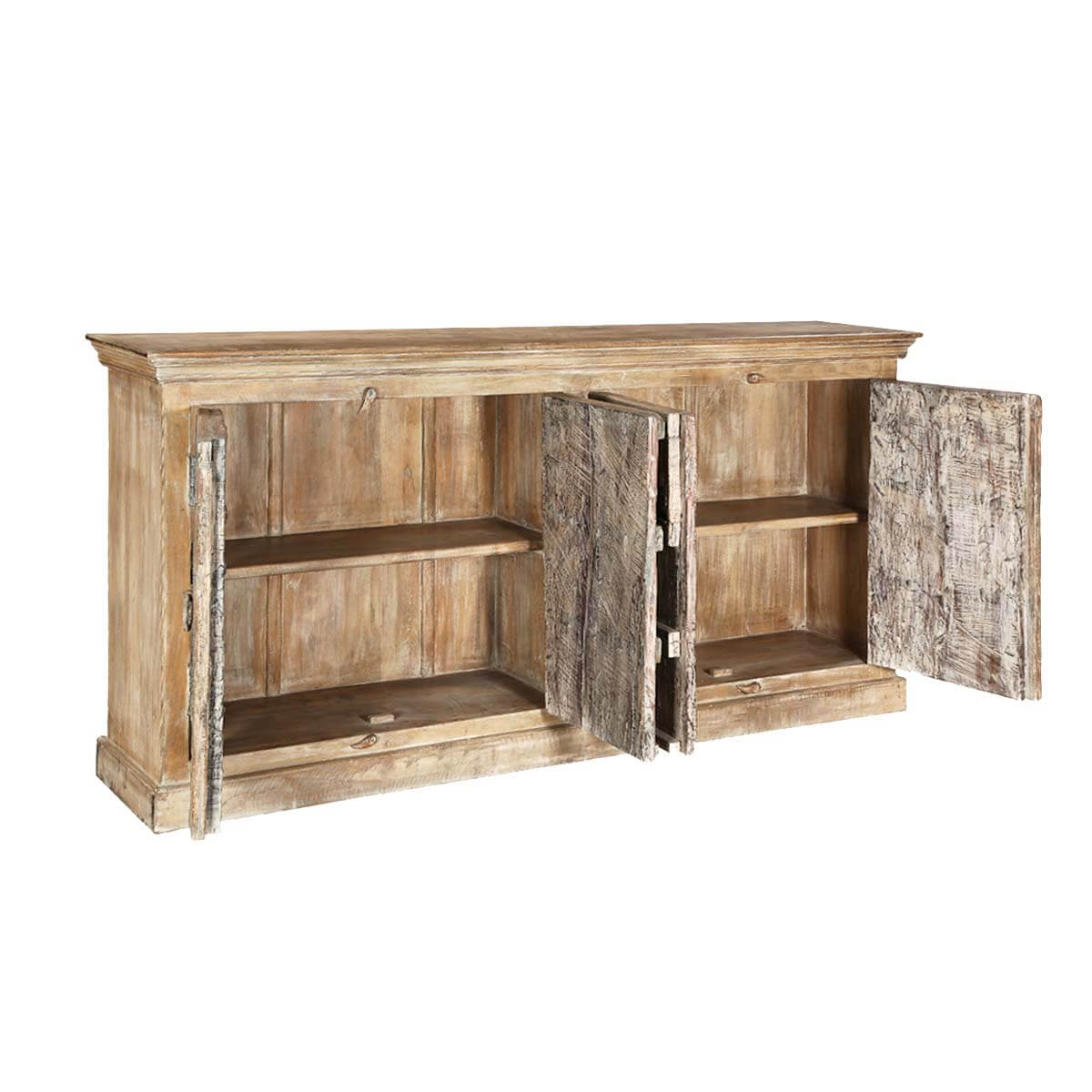Wood Buffet Palazzo 76 Rustic Light Brown 4 Door Accent Buffet. Full resolution  picture, nominally Width 1200 Height 1200 pixels, picture with #AD841E.