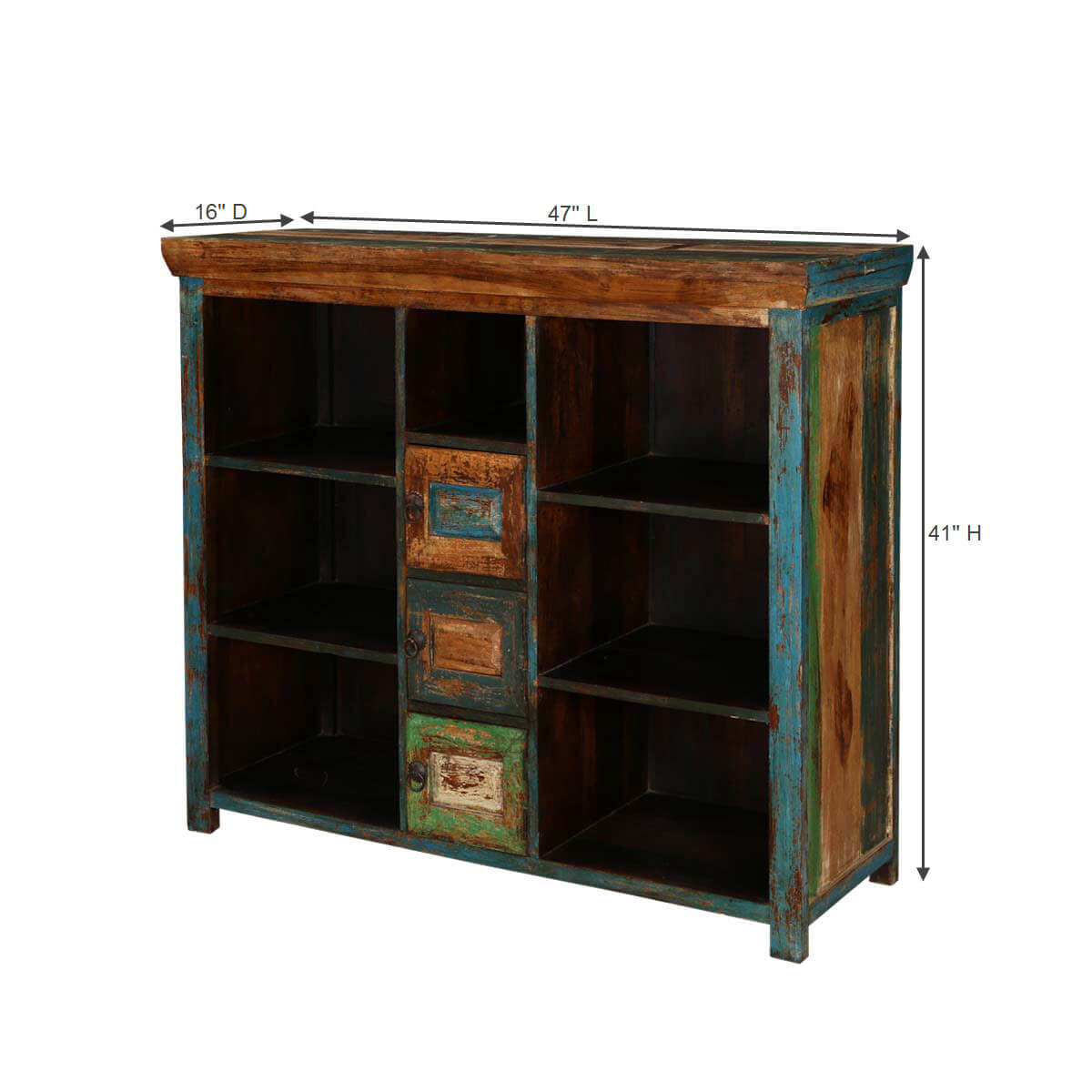 Wood Buffet Cabinet ~ Mexico bright shelves small cabinets mango wood buffet
