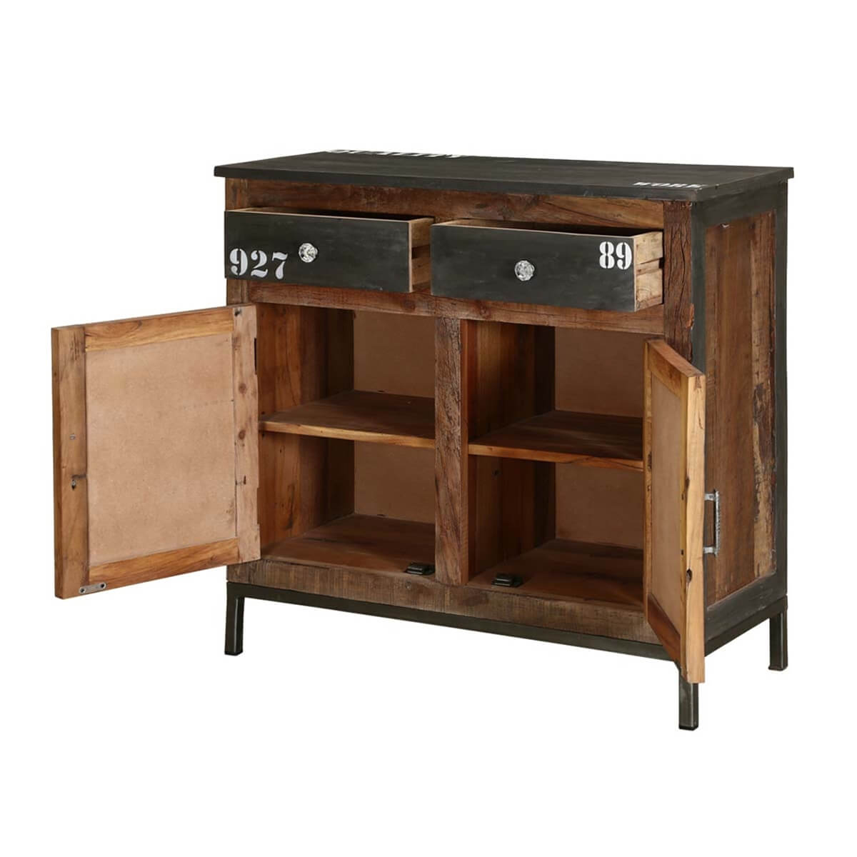 Wood Furniture Storage Cabinets Industrial Midnight Reclaimed Wood . Full resolution  photograph, nominally Width 1200 Height 1200 pixels, photograph with #AA8721.
