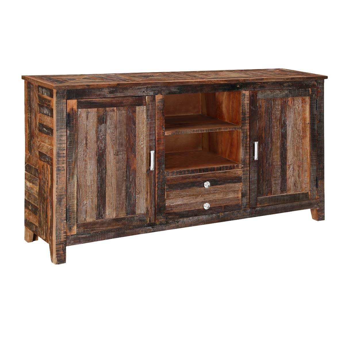 Oregon Robust 63 Reclaimed Wood 2 Drawer Storage Cabinet