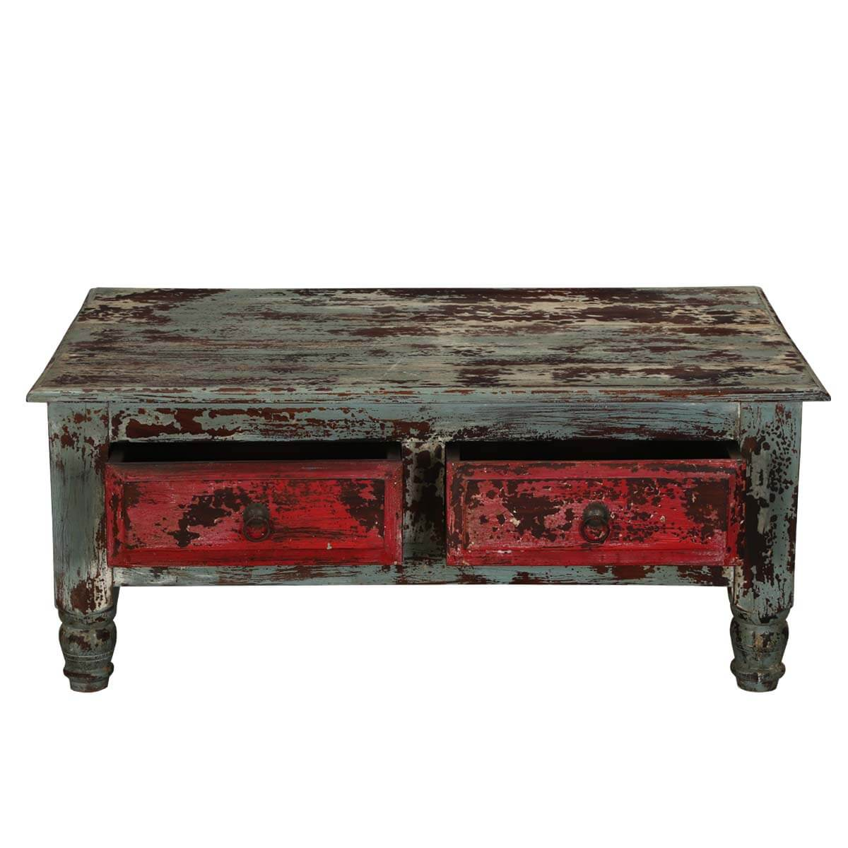 smoke fire rustic mango wood accent coffee table w drawers. Black Bedroom Furniture Sets. Home Design Ideas