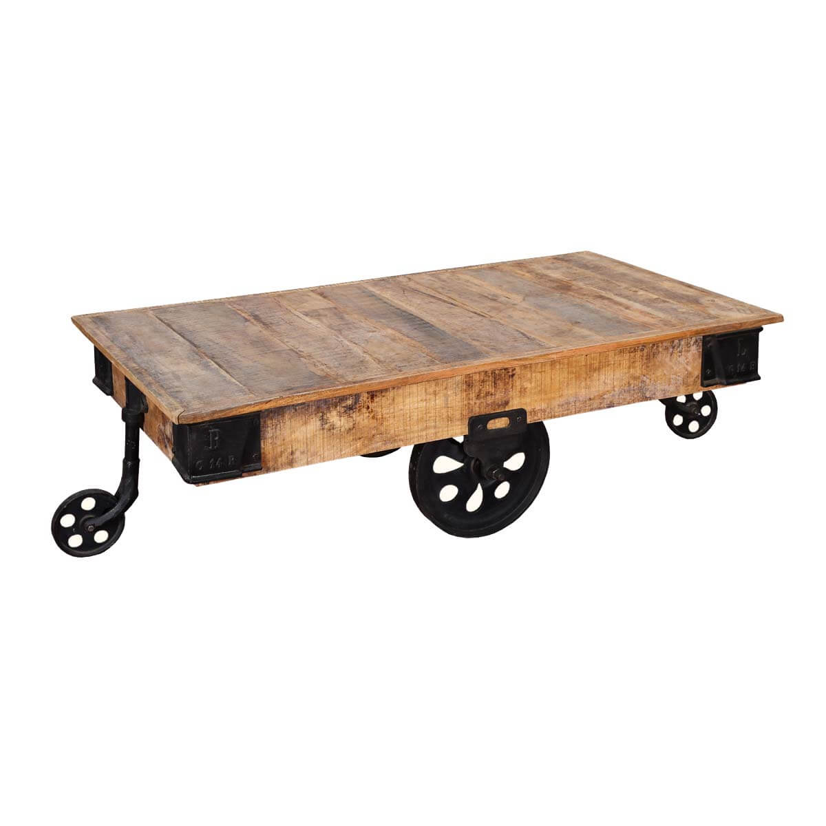 Industrial Coffee Table Images: Industrial Rustic Factory Cart Coffee Table