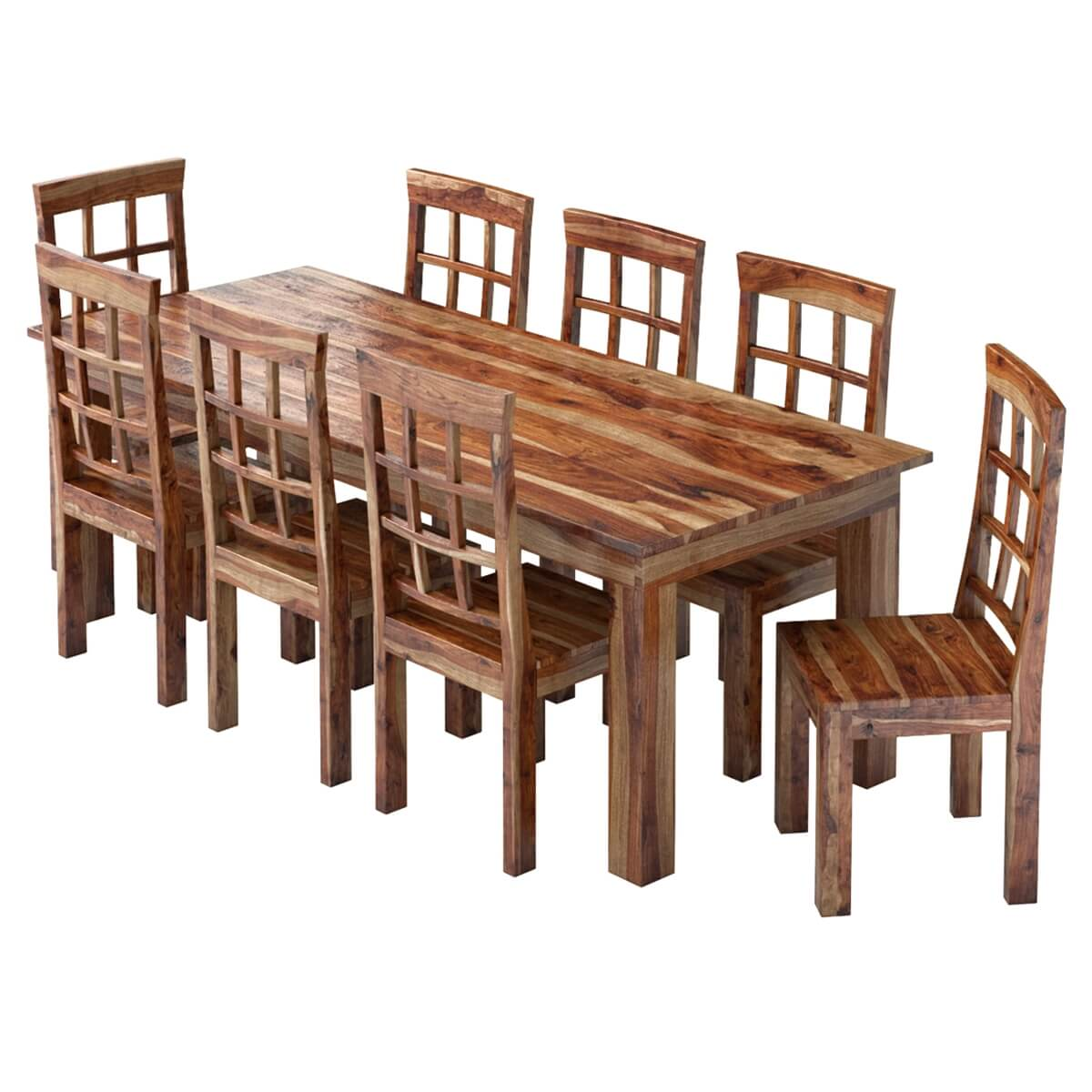 portland handcrafted rustic solid wood 11 piece dining asha 11 piece solid wood dining set free shipping today