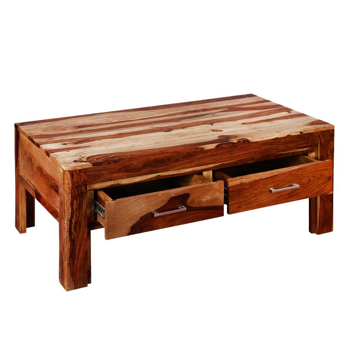 Modern Frontier Indian Rosewood 45 Coffee Table W Drawers