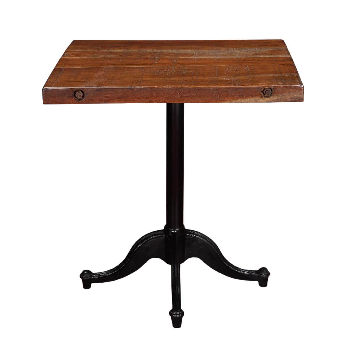 Modern Caf233 21 Square Mango Wood amp Iron Pedestal Table : 82662 from www.sierralivingconcepts.com size 1200 x 1200 jpeg 68kB