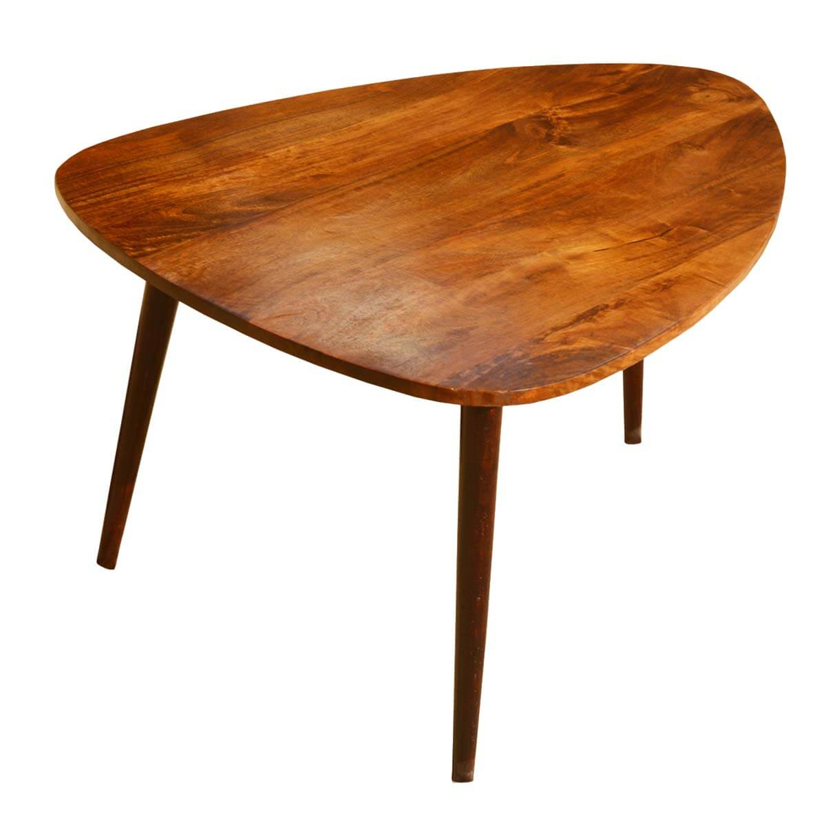 Arrowhead Mango Wood Triangular Coffee Table