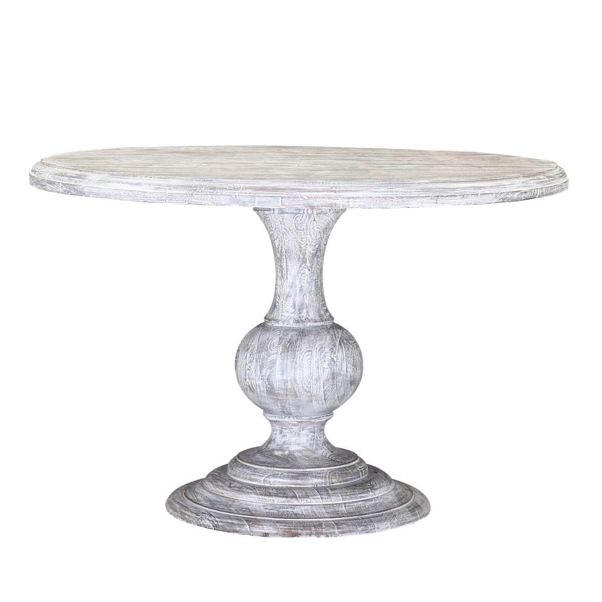 Winter White Mango Wood 48 Round Pedestal Dining Table : 83262 from www.sierralivingconcepts.com size 1200 x 1200 jpeg 83kB