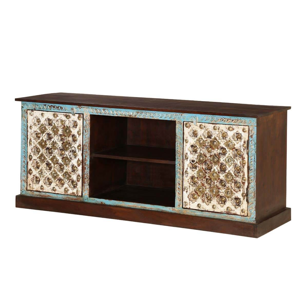 "Cincinnati Intricate Crafted 59"" Wide Accent Media Console"