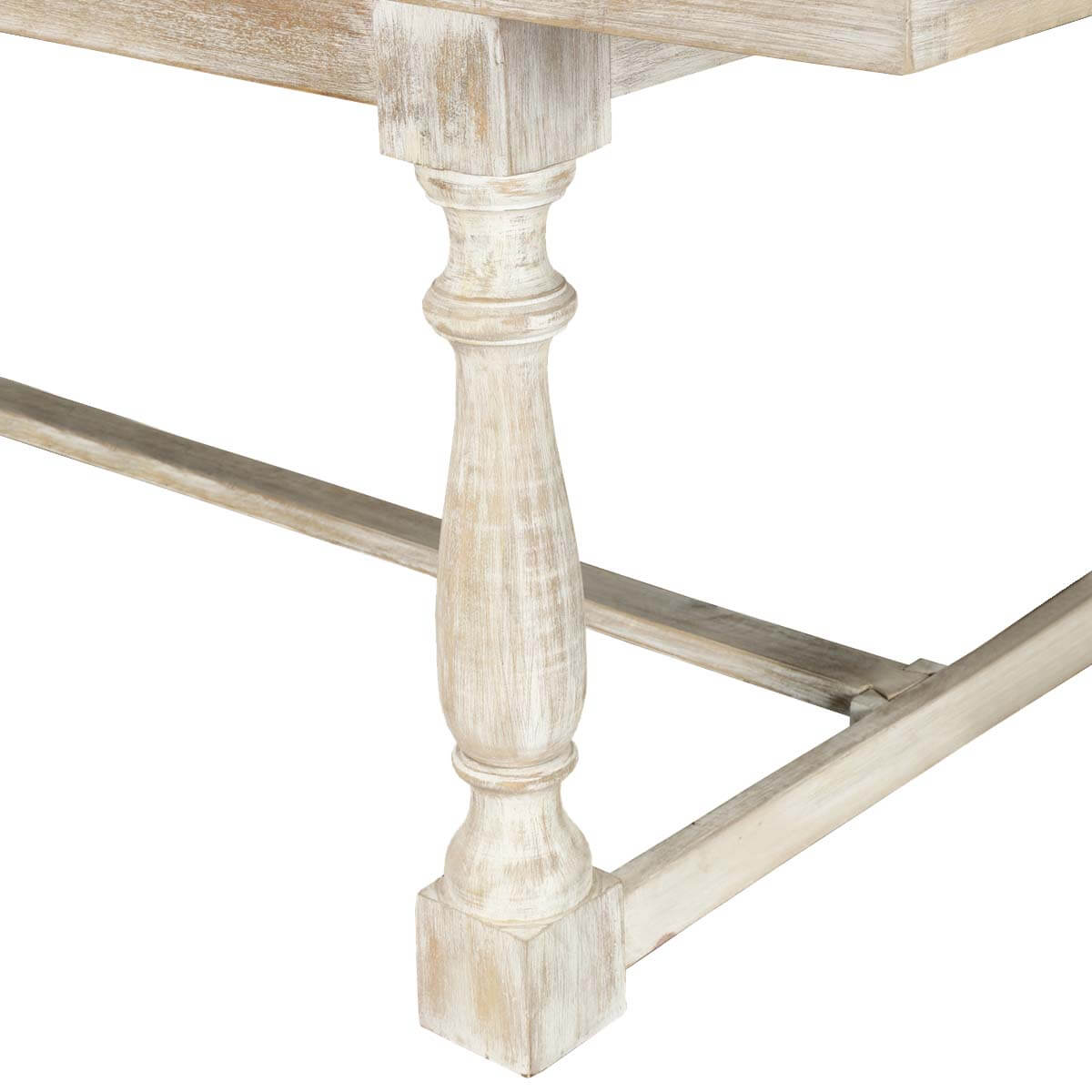 Seattle Rustic Distressed Finish Solid Mango Wood Trestle